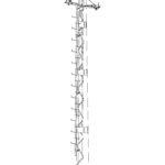 многогранная опора АУПС10Ф-1Рм — с лестницей