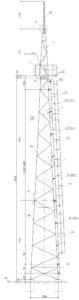 Стальная прожекторная мачта ПМС-18,4м